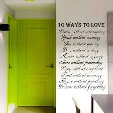 popular adhesive wall words buy cheap adhesive wall words lots dctop 10 ways to love text wall sticker art words home decor vinyl removable self adhesive