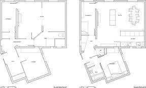 cuisine ouverte sur s駛our fenetre sur cour architecte 18ème bardin architecte