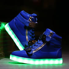 led light up shoes for adults kids led light up high tops flash shoes royal blue gold strap sale