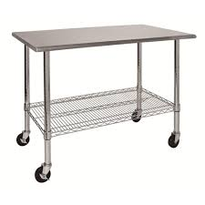 home depot stainless steel table sandusky 39 in h x 24 in w x 46 in d stainless steel top work