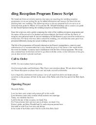 exle of wedding program excellent emcee script template photos exle business resume