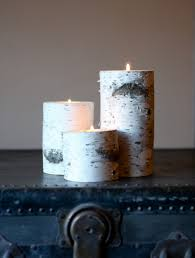 birch bark candle holders home decor wedding candles home decor