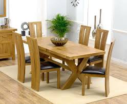 Solid Oak Dining Table And 6 Chairs 6 Chair Dining Table Set Monplancul Info