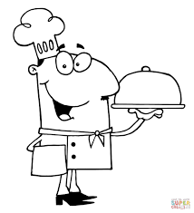 cute chef coloring page illustration royalty free cliparts inside