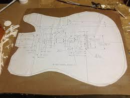 making a custom telecaster guitar body template hellecaster u0027s