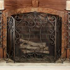 stained glass fireplace screen on custom fireplace quality