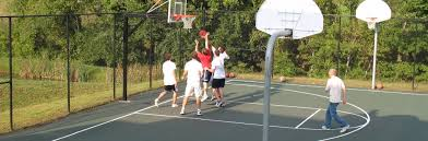 Backyard Basketball Hoops by Basketball Backyard Courts Contractors In Houston Shuffle Board