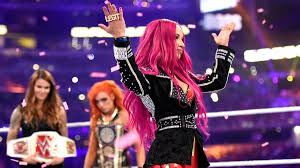 playstation 4 wrestlemania 32 review image becky overlooking sasha at wrestlemania 32 jpg