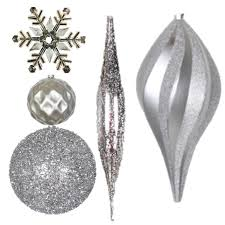 shatterproof ornaments and mesh ribbon