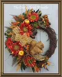 fall wreath grapevine wreath wine orange sunflower wreath