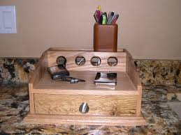 cell phone charging station oak 49 00 via etsy tech stuff