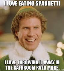 Spaghetti Meme - i love eating spaghetti i love throwing it away in the bathroom