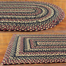Primitive Country Area Rugs Rectangle Jute Braided Area Rugs Ebay