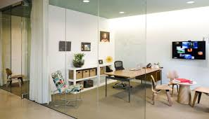 Curtains For Office Cubicles Ideas Glass Walls Provide Special Cubicles Transparent Interior