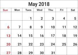printable calendars free free may 2018 calendar in printable format templates calendar office