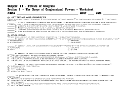 congressional leadership worksheet answers 28 images the