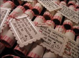 awesome wedding favors if your getting married in a town these are right up