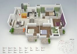 Floor Plans For Flats 4 Bedroom Apartment House Plans