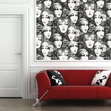 black and white vintage faces custom digital wallpaper custom