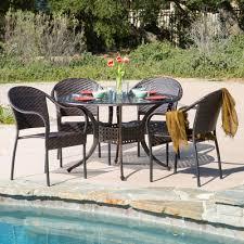 home loft concepts august 5 piece dining set u0026 reviews wayfair