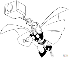 thor coloring pages marvel thor coloring free printable