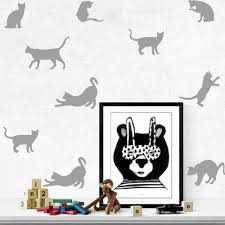 Decoration Cat Wall Decals Home by Variety Of Colors 9pcs Set Mini Style Cat Wall Sticker Vinyl Kids