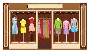 boutique women s clothing shop royalty free cliparts vectors and