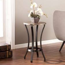 End Table Living Room Bronze Accent Tables Living Room Furniture The Home Depot