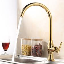Single Kitchen Faucet Golden Brass Kitchen Faucets Single Single Handle