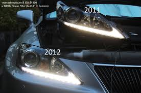 lexus is350 headlight 2011 isx50 headlights vs 2012 isx50 headlights differences
