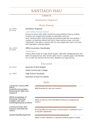Picture Of Resume Examples by Sanitation Resume Samples Visualcv Resume Samples Database