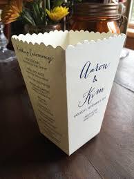 favor boxes for wedding popcorn box wedding program custom ceremony program mini