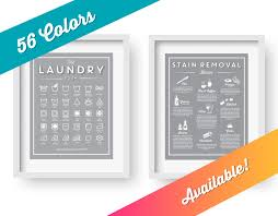Laundry Room Signs Decor by Set U0027the Laundry Room And Stain Removal Basics U0027 Clean