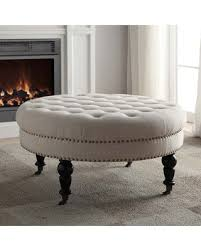 spooktacular savings are here 52 off linon isabelle tufted round