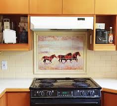 Kitchen Mural Backsplash Horse Murals Kitchen Tile Backsplashes Of Horses Horses Tiles