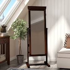 cheval jewelry armoire andover mills rectangle jewelry armoire cheval mirror reviews