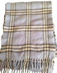 light blue burberry scarf burberry london light blue plaid wool scarf wrap tradesy