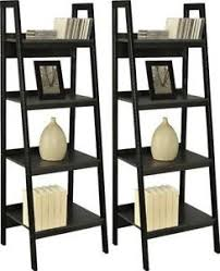 Walnut Ladder Bookcase Ladder Shelf Home U0026 Garden Ebay