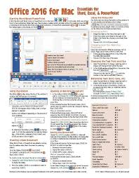 new home essentials office 2016 for mac essentials quick reference guide cheat sheet