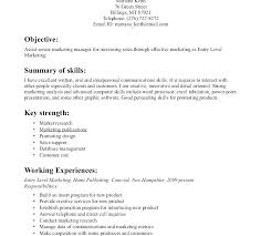 resume objective statement exles entry level sales and marketing entry level it job resume exle cashier resume template entry