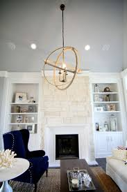 living room chair rail molding design for white fireplace mantel