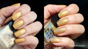 nail art heart of gold holo nail polish from born pretty store