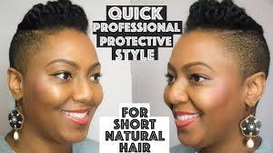 weave on short afro hair no weave protective style for short or tapered natural hair youtube