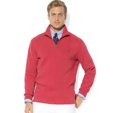 macy s ralph sweaters lyst ralph polo rib half zip mock neck pullover in