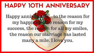 wedding quotes anniversary 10th wedding anniversary quotes for husband from happy