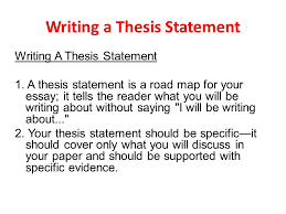 writing a thesis statement ppt video online download