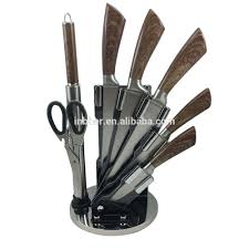 bk220 high quality 8pcs stainless steel knife sets with block