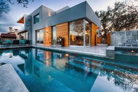 best home designs in the world with blue water fresh swimming pool