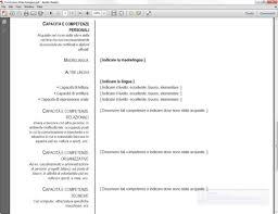 curriculum vitae formato europeo download pdf da compilare curriculum curriculum vitae europeo in pdf download gratis