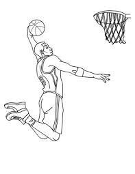 basketball coloring pages nba nba player slam dunk coloring page nba player slam dunk coloring